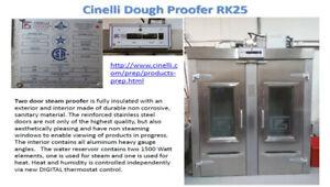 Cinelli 2dr Dough Proofer RK25 w/ digital steamer heat control