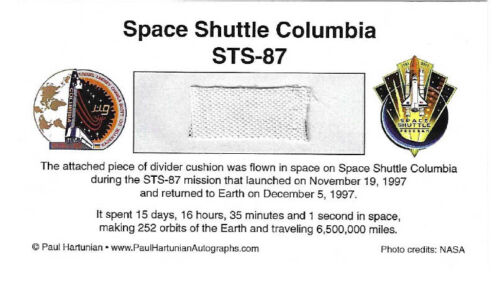 Own a Piece of Space Shuttle Columbia STS-87 - Flown in Space - For Just $14.95