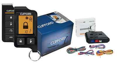 CLIFFORD 5706 5706X 2-WAY ALARM REMOTE START SYSTEM LCD PAGER + DBALL2 BYPASS
