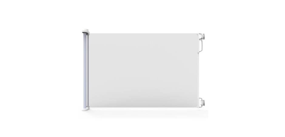 Extra Wide Indoor Outdoor Retractable Gate White Safety 33 H