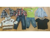 Bundle of boys clothes aged 12 -18 months