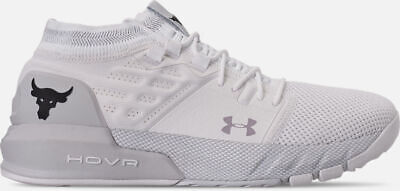 Under Armour Project The Rock 2 Delta Training Shoe White/Black UA Mens 2019