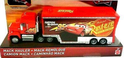 Dixney Pixar Cars Lightning McQueen Rust-eze #95 Mack Hauler Walmart Exclusive