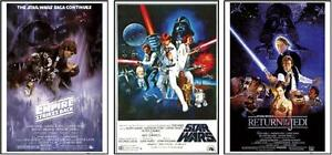 Star Wars Posters Original Classics Movie Poster Collector Set of 3, 24x36