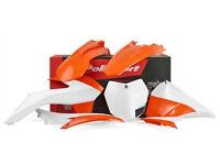 New Plastic Kit KTM SX SXF XC XC-F1 25 250 350 450 13 14 15 Plastics OR/WT