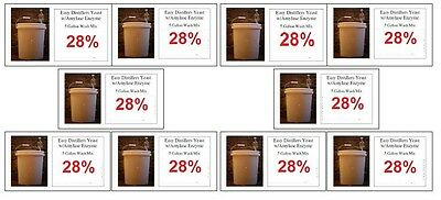 (10) Packages Of 5 Gallon Turbo Yeast - Moonshine Still W...