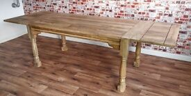Reclaimed Extending Rustic Farmhouse Dining Kitchen Table Natural - 5.5ft-8.5ft
