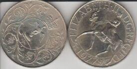 Queen Elizabeth Silver Jubilee coin. 1977