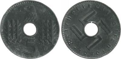 Reichskreditkassen 5 Pfennig J.618 1940A fast vorzüglich