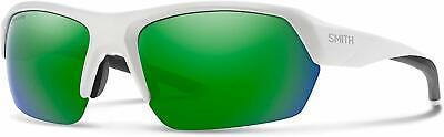 Smith Tempo Sunglasses, Matte White / ChromaPop Green (White Smith Sunglasses)