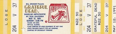 "GRATEFUL DEAD UNUSED TICKET  05-12-1991  SHORELINE ""MAIL ORDER""  MINT"