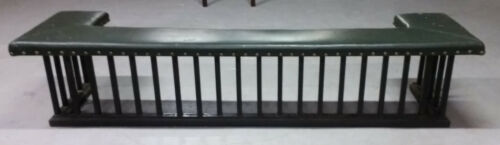 """Antique FIREPLACE FENDER Art Deco MISSION Style Iron Bench Sofa Arts &Crafts 91"""""""
