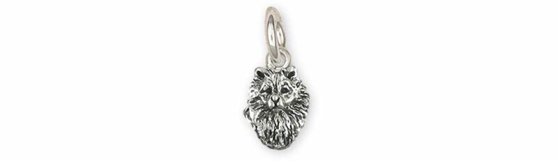 Keeshond Jewelry Sterling Silver Handmade Keeshond Charm  KSH1H-C