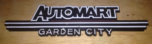 60'S 70'S Automart Garden City New Jersey Auto Dealer Name Plate EMBLEM CHROME