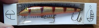 """OLD AC SHINERS 450 MINNOW LURE IN BROWN PERCH COLOR 4 1/2"""" NEW IN PACK LQQK for sale  York Haven"""