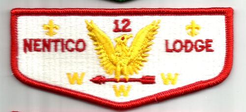 Oa Lodge NENTICO  12 S-   plst back MINT Boy Scout flap Baltimore MD 90s