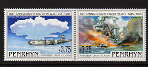 PENRHYN-IS-1995-WWII-SET-SG-513-514-MNH