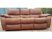 3 Seater Recliner Sofa-Chocolate