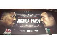 4x Anthony Joshua vs Kubrat Pulev tickets