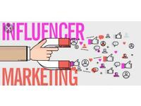 Marketing influencing with over 20k followers