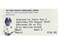 X2 Adult England v India Saturday 4th August