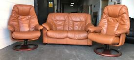 Stressless style reciner sofa set can deliver