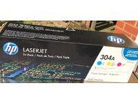 Hewlett Packard HP 304A Yellow Original LaserJet Toner Cartridge (CC532A)