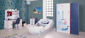 Childrens Pirate ship bed(last one) single size