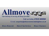 Allmove Removals - Man & Van Services from £30 ph!!!