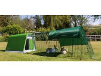 EGLU GO Rabbit Hutch with Run, Sunshade and Extreme Temperature Liner - Nearly New