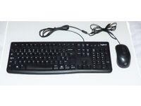Wired UK keyboard and mouse set ~ Logitech HP