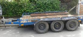 PLANT TRAILER, TRANSPORTER 10ft X 6ft BES 6 X INDEPENDENT SUSPENSION UNITS