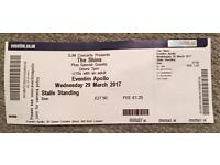 1 x The Shins standing ticket Wednesday 29 March 2017 Eventim Hammersmith Apollo London