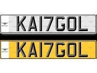 Private Cherished Registration Number Plate (KANGOL) KA17GOL