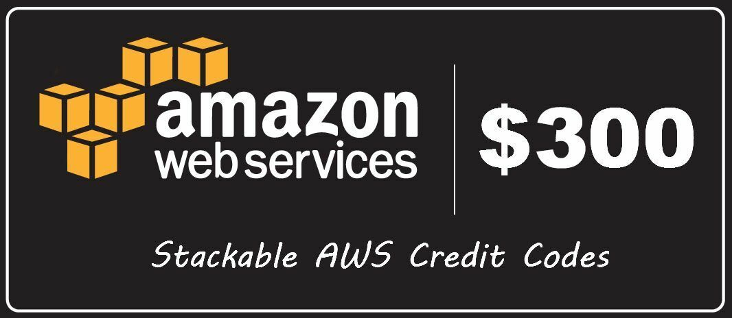 AWS Amazon 300$ Credit  Web Services promocode credit code exp 2019 EC2 SQS RDS