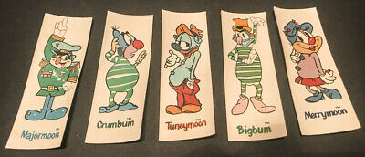 Rare Vintage Ralston Moonstones character magnets set of 5–1976 original good