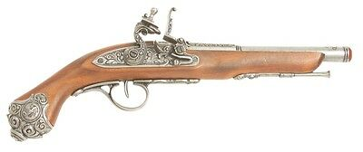Denix 18th Century Flintlock Pistol Replica Gun - Gray Finish