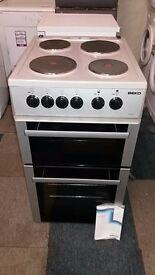 silver beko 50cm electric cooker