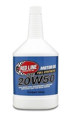 Red Line 20W50 Motor Oil for API SN/SM/SL/SJ/SH/SG and ACEA A3 - Quart #