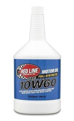Red Line 10W60 Motor Oil - Quart for API SN/SM/SL/SJ/SH/SG/CF #