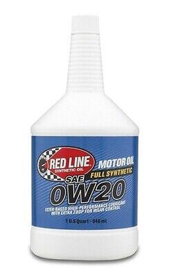 Red Line 0W20 Motor Oil - Quart for API SN/SM/SL/SJ/SH/SG/CF and ACEA A5 #