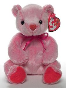 Romance the Valentine's Day bear Ty Beanie Baby stuffed animal