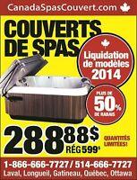 couverts de spas DERNIERE CHANCE liquidation 2014