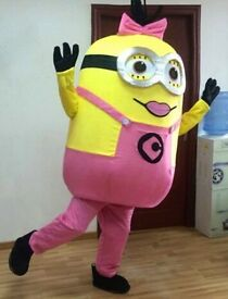 Pink Minion Mascot Adult Costume - Brand New