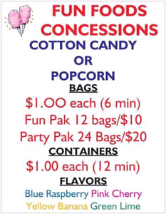 FUN FOODS CONCESSIONS..Less than $1/bag