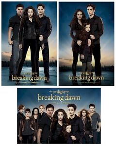 TWILIGHT BREAKING DAWN PART 2  ~ 3 MOVIE POSTER SET 24x36 Cullen Renesmee LOT