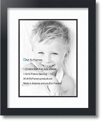 "ArtToFrames Collage Mat Picture Photo Frame 1 9x12"" Openings"