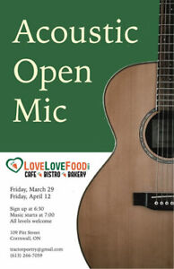 Acoustic Open Mic Cornwall - April 12