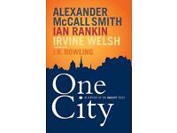 One City Edinburgh book signed Irvine Welsh, Ian Rankin, Alexander McCall Smith