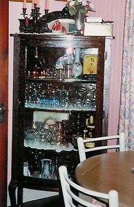 Large Victorian/Edwardian-Era China/Curio Cabinet